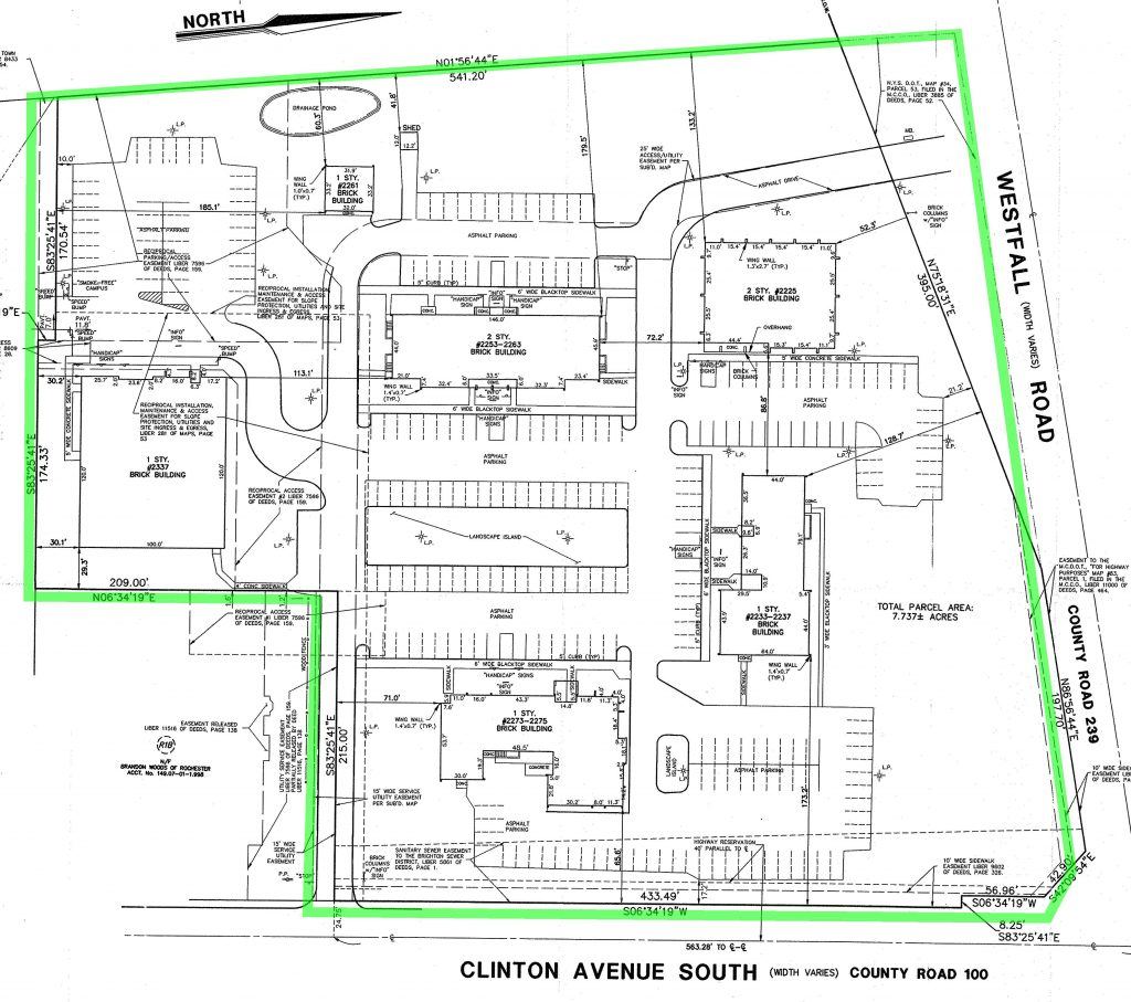 2225-2337 Clinton Avenue site plan